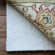 natural foundation all wool square rug pad 3 8