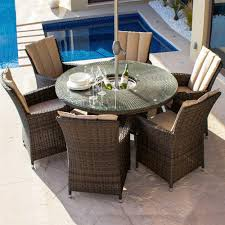 Maze Kitchen Table - maze rattan la 6 seat round garden furniture set with ice bucket