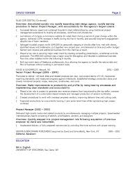 Sample Resume For Manager by Senior Advertising Manager Sample Resume 20 Web Production Project