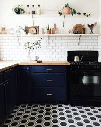 White Kitchen Cabinets With Tile Floor 36 Eye Catchy Hexagon Tile Ideas For Kitchens Digsdigs