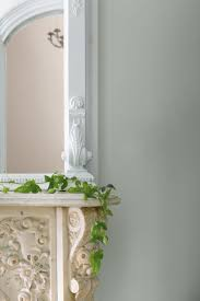 benjamin moore silver fox gray wall chantilly lace trim and