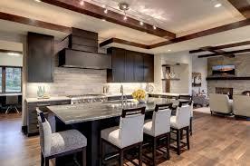 Custom Wood Range Hood Plans With Dining Room And Tile Backsplash - Kitchen tile backsplash ideas with dark cabinets