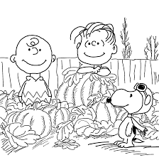 Halloween Coloring Pages Pumpkin Happy Charlie Brown And Pumpkins Coloring Pages For Kids