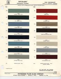 1963 chevrolet paint chips cool cars pinterest impalas