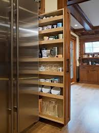on a shelf pull out pantry hardware how to make a shelf for desk next fridge