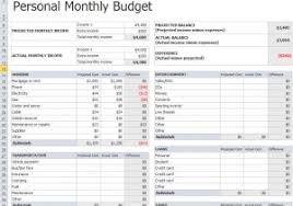 monthly household budget template u2013 pccatlantic spreadsheet templates