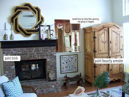 living room painting the brick fireplace hi sugarplum