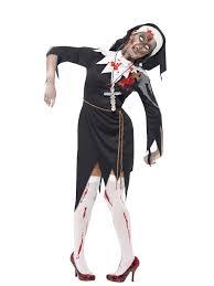 priest halloween costume mens ladies zombie bloody nun vicar priest halloween fancy dress