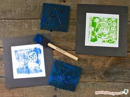 make stamps from take out containers great rainy day kid craft