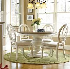 Dining Room Awesome Avalon  White Extension Table Crate And - Round pedestal dining table in antique white