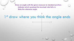 lesson 6 1 angles u0026 the unit circle basic graphing objective