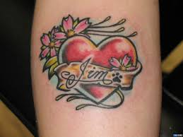 crazy tattoo ink heart tattoos with kids names