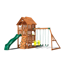 highlander deluxe cedar swing play set with slide sam u0027s club