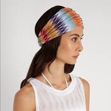 zig zag headband 43 missoni accessories missoni zigzag knit headband nwt