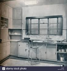 section of a small kitchen designed by mrs darcy braddell 1935