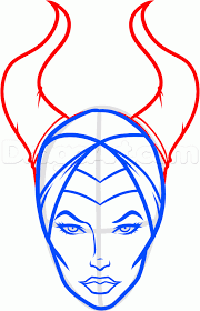 how to draw maleficent easy step by step disney characters