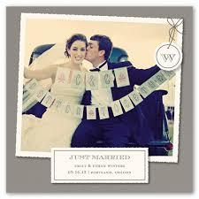 just married cards just got married 5x5 flat wedding announcement shutterfly