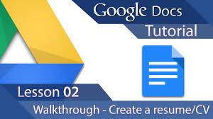 Best Resume On Google Docs by Google Docs Tutorial 02 Advanced Layout Create A Resume Or
