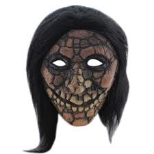 realistic latex rubber size face mask cracked face 1a232