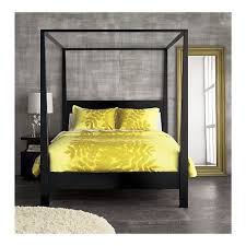 Black Canopy Bed Pavillion Black Canopy Queen Bed In Solid Mahogany And Back Lacquer
