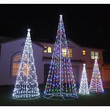 outdoor led lights for trees with 144 12 ft multi color led cone
