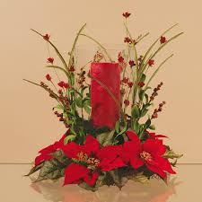 how to make a christmas floral table centerpiece extra large poinsettia christmas vase arrangements tall red candle
