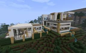 modernism in minecraft modern mansion minecraft project