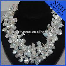 pearl necklace wholesale images Triple strand large keshi pearl necklace wholesale buy triple jpg