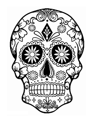 sugar skull coloring page halloween pinterest sugar skulls
