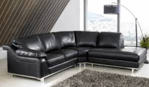Black Leather Corner Sofa Dadka Modern Home Decor And Space Saving Furniture For Small