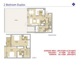 mudon views 3 bedroom duplex with maid floor plan