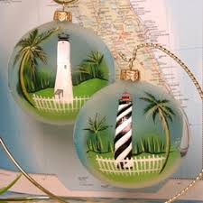 the painted florida lighthouse ornament will remind you of