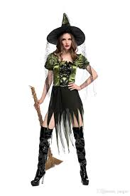 2017 halloween cospaly costumes women green witch costume