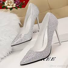 bridal wedding shoes 2015 real image best selling sliver pink bridal shoes beading