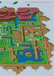 Map Pattern The Legend Of Zelda A Link To The Past Map Cross Stitch Pattern 4