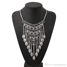 necklace trendy images 2018 long necklaces silver net diamante necklace trendy zinc alloy jpg