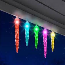 outdoor icicle christmas lights walmart 24 5 lightshow color motion icicle christmas lights walmart com by