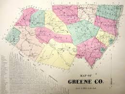 New York Counties Map Map Greene County