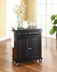 kitchen islands 41 black kitchen island cart with granite top