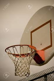 a vertical cross processed basketball hoop background lots of