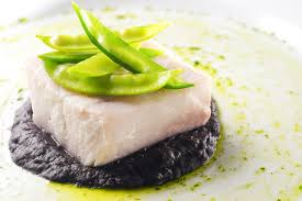 la cuisine sous vide sous vide mahi mahi with squid ink bean puree
