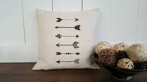 burlap or cotton canvas pillow cover with tribal arrows zipper burlap or cotton canvas pillow cover with tribal arrows zipper enclosure rustic home decor rustic chic customizable images