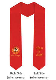 sorority graduation stoles sorority and fraternity graduation stole alpha id suitup