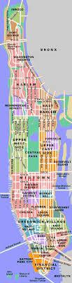 map of manhattan neighborhoods in manhattan nyc 2000 2368 mapporn