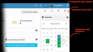right sidebar edwiser remui moodle user experience theme admin view