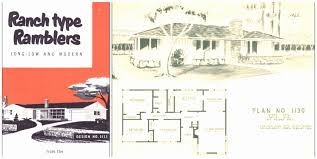 1950s ranch house plans 1950s house plans inspirational home style trends house floor