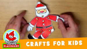 dancing santa christmas craft for kids maple leaf learning