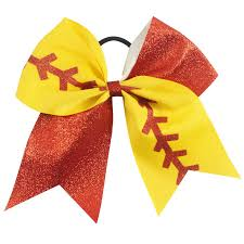 softball hair bows 3 pieces baby girl big softball hair bows with elastic