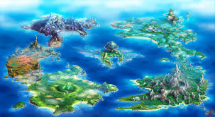World Map Artwork by Seiken Densetsu Digital Art Island Mountain Map Artwork
