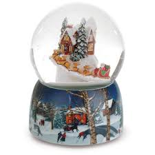 santa s glitterdome musical snow globe snow globes